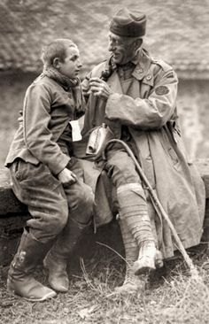 A US army chaplain and a young German POW, 1918