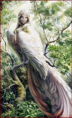 Gamayun is a symbol of wisdom and knowledge, a talking bird who foretells the future and tells fortunes.