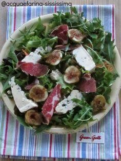 insalata fichi, rucola e coppa piacentina