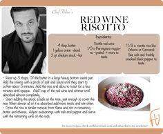 Red Wine Risotto #HappyBdayFabio