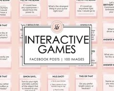 Facebook Group Games, Facebook Party, For Facebook, Facebook Engagement Posts, Social Media Engagement, Interactive Facebook Posts, Etsy Business, Business Ideas, Online Business