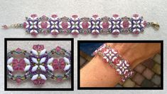 "Beading4perfectionists : ""Summer butterfies"" beaded bracelet with swarovski beading tutorial"
