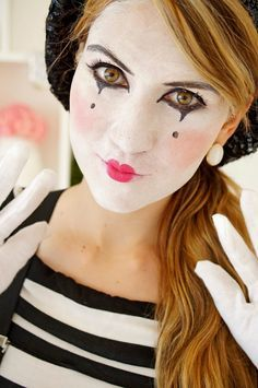 Mime Makeup -- Cute and easy!