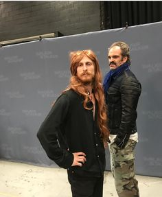Lol Dwight and Simon from the walking dead ladies and gentlemen!