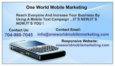 This is our card don't hesitate to contact us if you are interested in finding out more about mobile marketing or text message marketing.