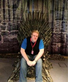 Kristian Nairn AKA Hodor on the iron throne. This is how the series should end! #gameofthrones