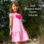 Dropped-Waist Knit Dress Tutorial with Pattern