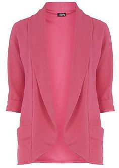 Womens rose fever fish pink waffle jacket from Dorothy Perkins - £30 at ClothingByColour.com