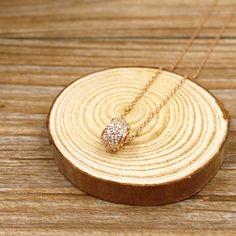 BLUMA布瑪小鎮設計師手作銀飾&復古風飾品Time wheel necklace時空之輪項鍊/鋯石/RN307