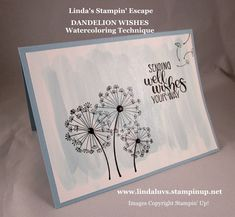 #Dandelion #Wishes: #techniques - Watercoloring www.lindaluvs.stampinup.net
