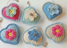 Crochet Keychain Pattern Free Little Heart Keychain Free Crochet Pattern Crochet Pattern Free, Crochet Keychain Pattern, Crochet Diy, Love Crochet, Crochet Gifts, Crochet Motif, Beautiful Crochet, Crochet Flowers, Crochet Patterns