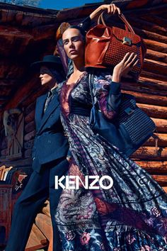 Wild West – Joined by male model Clément Chabernaud, Aymeline Valade and Kasia Struss front Kenzo's fall 2011 campaign photographed by Mario Sorrenti. Couple Photography Poses, Food Photography Styling, Winter Photography, Fashion Photography, Lifestyle Photography, Fashion Shoot, Editorial Fashion, Fashion News, Fashion Models