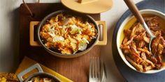 Boodschappen - Zoete-aardappelstamppot met spitskool en shoarma Paella, Macaroni And Cheese, Healthy Recipes, Healthy Food, Good Food, Food And Drink, Dinner, Cooking, Ethnic Recipes
