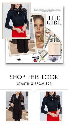 """""""Day at the office"""" by alinnas ❤ liked on Polyvore featuring Benefit, Whiteley and Kershaw"""
