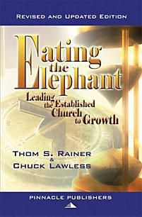 "Many church leaders have attempted the ""latest"" approach to growing a church, only to find the methodology is ineffective and the church members are divided. Internationally recognized authorities Thom Rainer and Chuck Lawless have written Eating the Elephant to show that a church can change and grow if you move at a pace that fits the church's situation, if you Eat the Eephant one bite at a time."