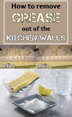How to remove grease out of the kitchen walls - CleaningInstructor.com
