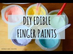 Edible Finger Paint Recipe - Wings and Roots