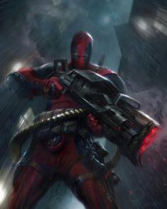 "Deadpool card art by Francesco Mattina from ""Marvel War of Heroes"""