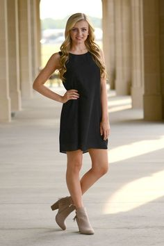 Bailey Dress in Black - Catch Bliss Boutique