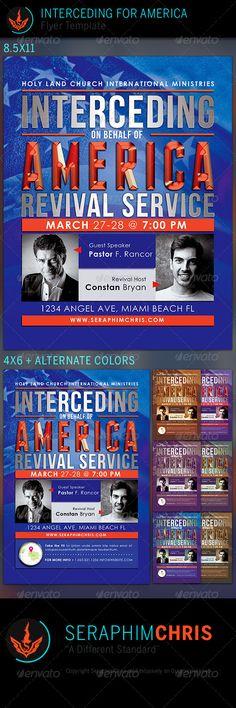 Interceding for America: Church Flyer Template