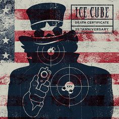 Paper Target ›Uncle Sam‹ 02  – Re-Design of the Ice Cube Cover  – The silhouette of the well known Uncle Sam Illustration by James Montgomery Flagg for the US Military drafting campaign stands for the aggression and threat of the government against its own citizens. Putting it on the cover as a paper target represents the main message of the album: Fight back against repressions through state authorities, don't let them mess around with you without resistance – #DeathCertificateArt…