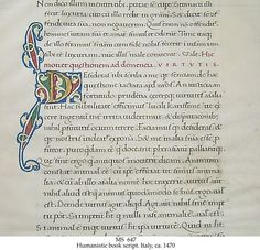 15th century humanistic minuscule