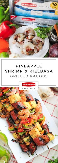 Don't you just love it when putting a twist on your favorite summer recipe is easy and delicious?! That's why these Pineapple, Shrimp, and Kielbasa Grilled Kabobs made with help from Rubbermaid BRILLIANCE™ food storage containers from Target are our new go-to dish for outdoor entertaining. After tasting this fresh, flavorful, and fun creation, you'll make these skewers for your dinner table all season long!