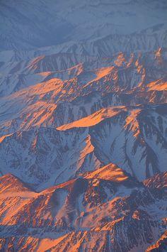 #Amanecer en los #Andes de #Chile, una buena forma de empezar un viaje!!
