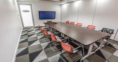 Sala de reuniões nos escritórios da MasterCard em Moscovo, Rússia