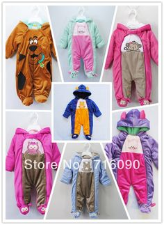 Free shipping baby romper/jumpsuits infant thick polar fleece coat for winter coveralls cotton-padded bodysuit dr0006-46 $19.40
