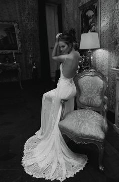 sexy, sultry wedding dress | Bridal Musings