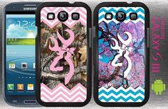 Double Deal Chevron Buck Bow Pink Camo Samsung Galaxy S3 case box skin Country #GizmoGear
