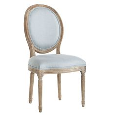 Louis XVI Dining Chair - French Blue - $299 at Wisteria.  Found mine for $99 at TJM!!!