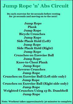 Jump rope n' abs circuit
