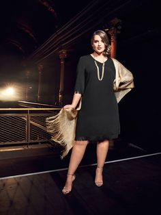 The little black dress accented with gold. #ullapopken #lbd Special Events, Special Occasion, Super Cute Dresses, Lbd, Clothes, Black, Fashion, Outfits, Moda