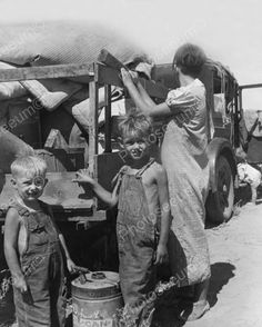 Boys at Roadside Depression 1930s 8x10 Reprint of Old Photo | eBay