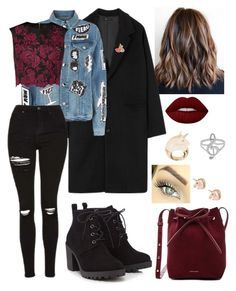 zoe by nicole-ler on Polyvore featuring polyvore fashion style Ted Baker Frame Red Herring Mansur Gavriel BIBI VAN DER VELDEN Olympia Le-Tan Lime Crime clothing