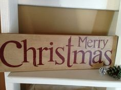 Merry Christmas Sign by Homeroad on Etsy, $25.00