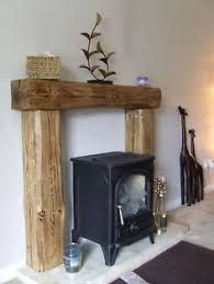 Image result for oak beam over white fire surround