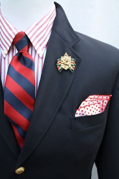 Mens Vintage Navy Blazer from Tommy Hilfiger by ViVifyVintage