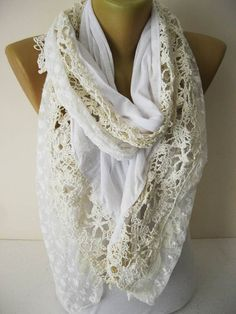 White scarf-Fashion Scarf gift Ideas For Her Women's