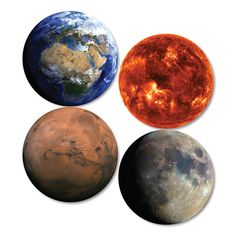 Planet coasters (set of 4)   hardtofind.