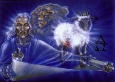 Jesus Christ is the Lamb; Jesus Christ is the Sacrificial Lamb; Jesus Christ is the Worthy Messiah; Jesus Christ is the Lion of the Tribe of Judah Book Of Life, The Book, Lion And Lamb, The Seventh Seal, Tribe Of Judah, King Jesus, Lion Of Judah, Lion Sculpture, Jesus Christ