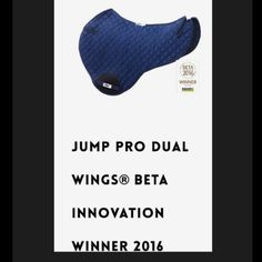 HRP® JUMP PRO DUAL WINGS®. BETA International Innovation WINNER 2016. 🐎Loved by eventers and jumpers as it fits perfectly with close contact saddles. HRP® Pressure Reducing WING® Saddle Pads exert NO pressure behind the saddle over the lumbar spinous processes. We sell internationally. Buy now: www.hrpequestrian.com  Made in the UK 🇬🇧🎉🙌🏻