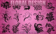 vector floral design - Downloadfreevector.com-Flowers-Pin-5