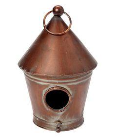 Look at this #zulilyfind! Rustic Tin Birdhouse #zulilyfinds