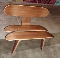 7. The Skateboard Stax Chair looks like a tiny outdoor bench and is made of three decks and plywood. We imagine it as being the perfect place to rest for young skateboarders who had just finished their intense practice. It goes well outdoors, on the patio or in a themed skateboard room. We think it looks quite original, don't you? Found it online here.