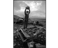 """'Boy Destroying Piano, 1961' © Philip Jones Griffiths. This artist's work will be exhibited at """"The Valleys Re-Presented""""  at Tramshed, Cardiff as part of Diffusion 2013."""