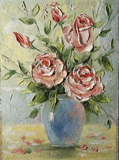 Flower Painting Canvas, Flower Canvas, Hand Painting Art, Texture Painting, Flower Art, Easy Canvas Art, Bonsai Art, Impressionism Art, Arte Floral