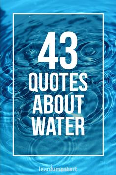 43 water quotes and inspirational sayings about river, ocean and hydration to inspire good habits. Best Travel Quotes, Best Quotes, Funny Quotes, Good Life Quotes, Inspiring Quotes About Life, Alexander The Great Quotes, Roman Quotes, Water Quotes, Quotes About Water